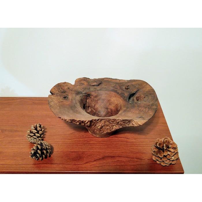 Дървена купа за украса от орехов корен gora.bg 007 B