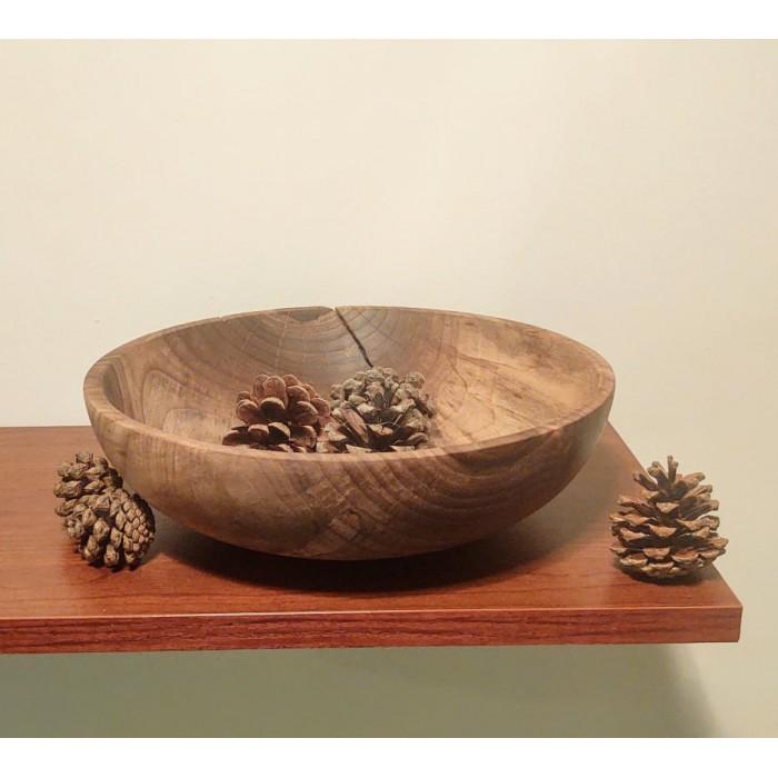 Дървена купа от орех с естествена пукнатина gora.bg 008 B
