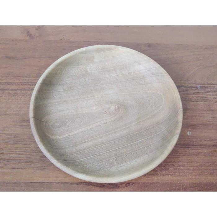 Дървена чиния за мезета от орех правена на струг gora.bg 018 B