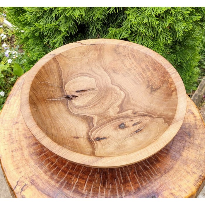 Дървена купа от орехов корен с естествени пукнатини gora.bg 025 B