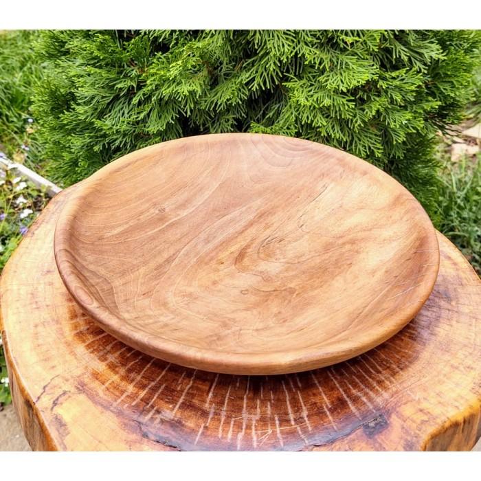 Голям дървен поднос за мезета изработен от орех gora.bg 026 B