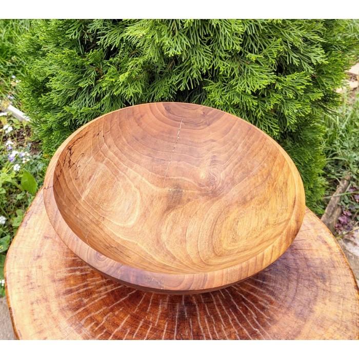 Дървена купа от орех изработена в нашата работилница gora.bg 029 B