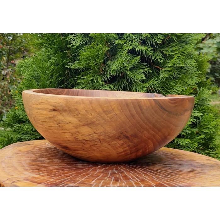 Голяма дървена купа от орех изработена в нашата работилница gora.bg 030 B