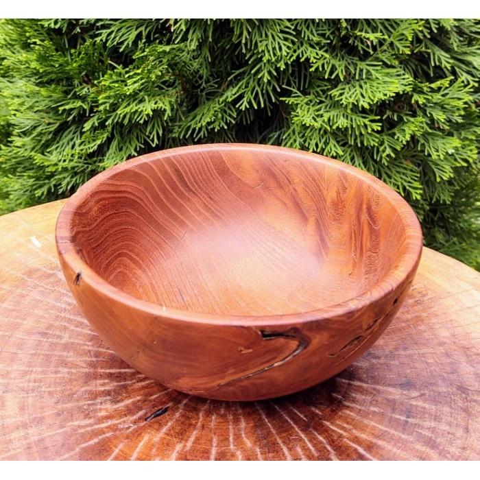 Дървенае купа от черница изработена на струг в нашата работилница gora.bg 032 B