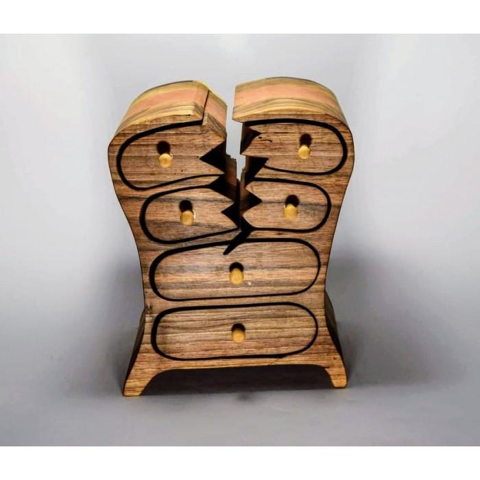 Дървена кутия за бижута от орех и елша gora.bg 021 K