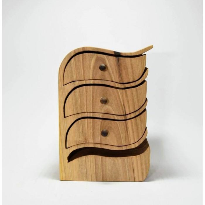 Дървена кутия за бижута от орех и череша gora.bg 022 K