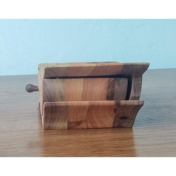Дървена кутия за бижута от орех и елша gora.bg 025 K