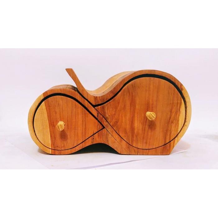 Дървена кутия за бижута от дива череша и гледичия gora.bg 034 K