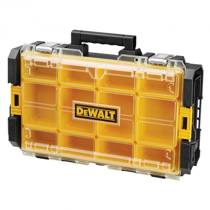 Куфар за инструменти пластмасов 543х350х100 мм, черен, DeWALT DWST1-75522