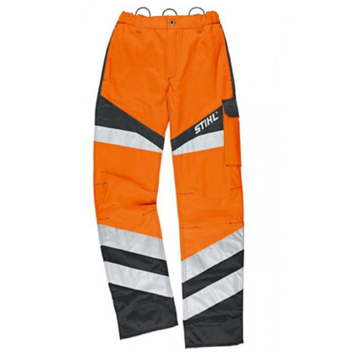 Защитен панталон STIHL в сигнален цвят Protect FS, за работа с храсторез
