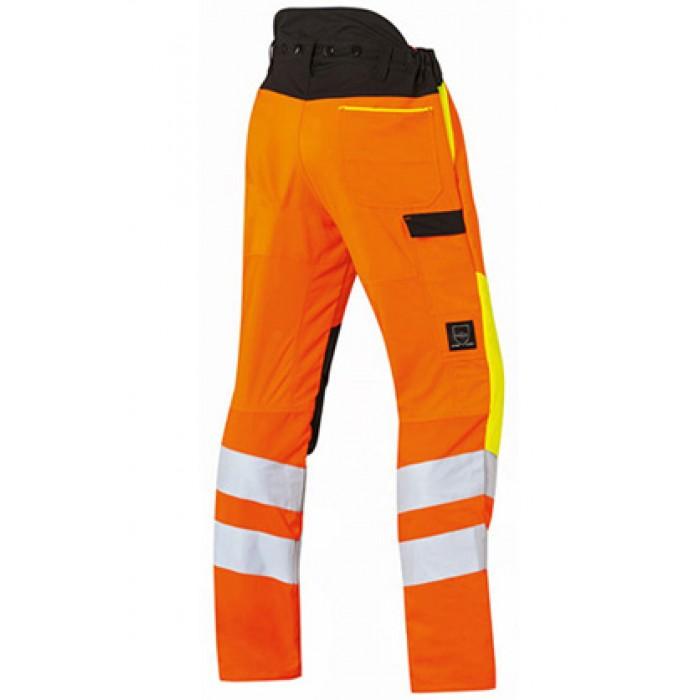 Панталон STIHL Protect MS, в сигнален цвят и със защита от срязване