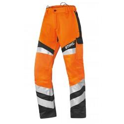 Защитен панталон в сигнален цвят Protect FS, за работа с храсторез