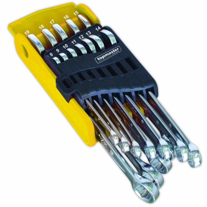 Ключ звездогаечен GRIP ON трето поколение к-т 12бр 8-19 mm Top Master 230184
