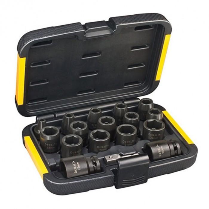 """Вложка комплект усилени с два адаптора 6-27 мм х 1/2"""" - 1/4"""", DeWALT DT7506-QZ"""