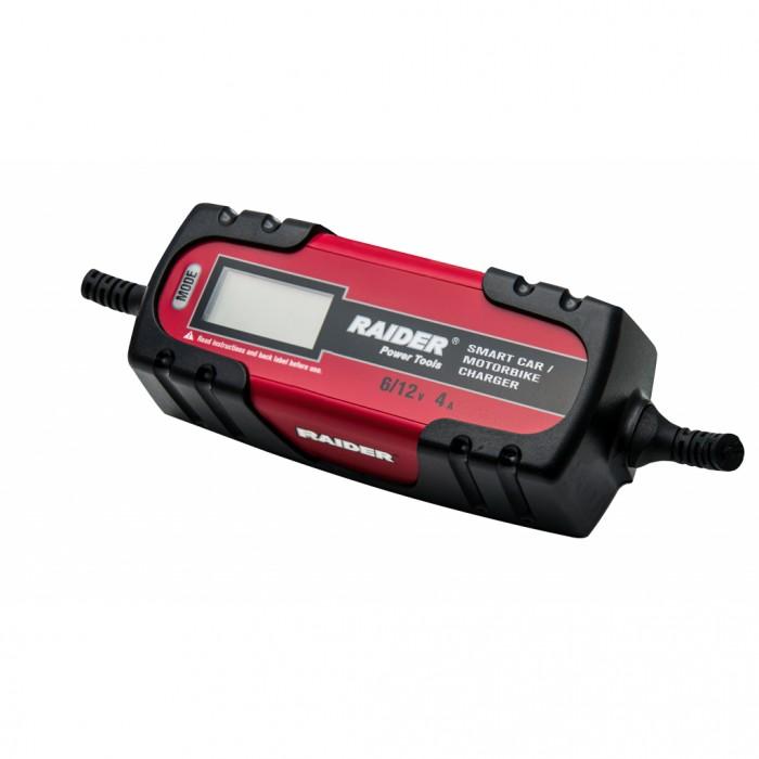 Зарядно за акумулатор инверторно 6/12V 120Ah Raider RD-BC13