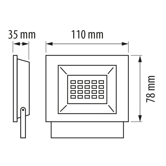 LED SLIM прожектор 10W, 6000K, 220V, IP65 студена светлина, Ultralux SPD1060