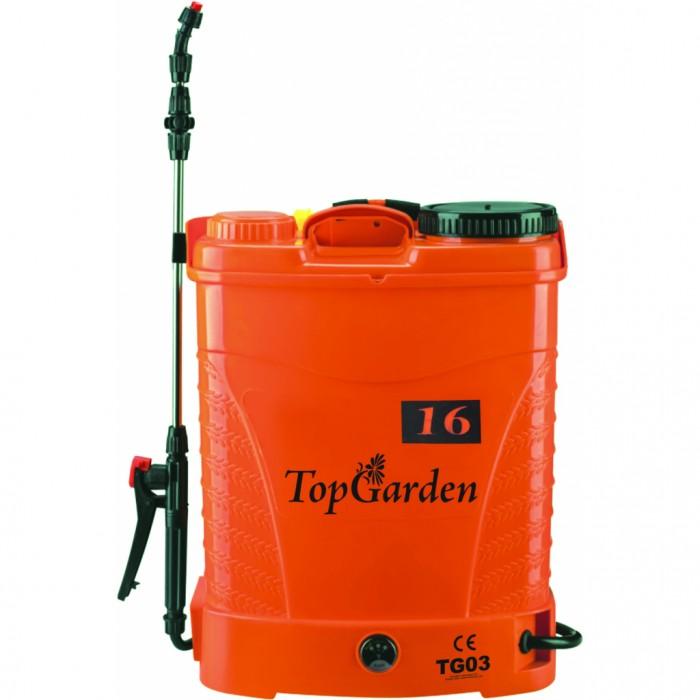 Пръскачка акумулаторна с батерия 12V/8AH 16л Top Garden 380321