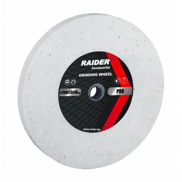 Диск за шмиргел ø200x20xø16mm бял Р60 Raider 165121