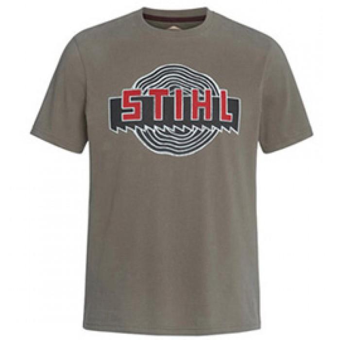 """Мъжка тениска STIHL """"Heritage"""", цвят зелен"""
