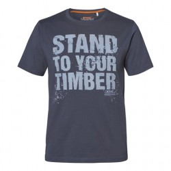 """Tениска """"STAND TO YOUR TIMBER"""" сива"""