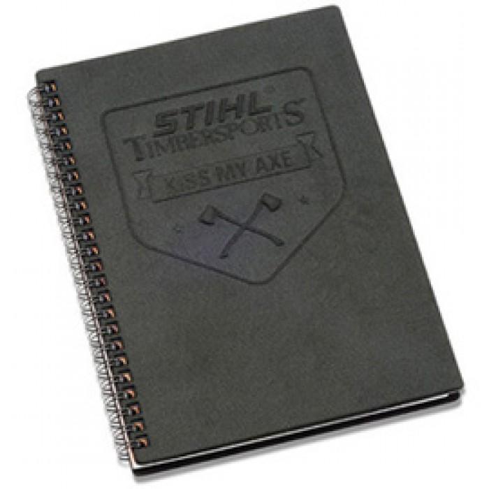 Тефтер със спирала, релефно лого STIHL TIMBERSPORTS