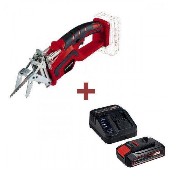 Акумулаторен трион + Батерия и зарядно устройство 18 V 2.5 Ah Einhell