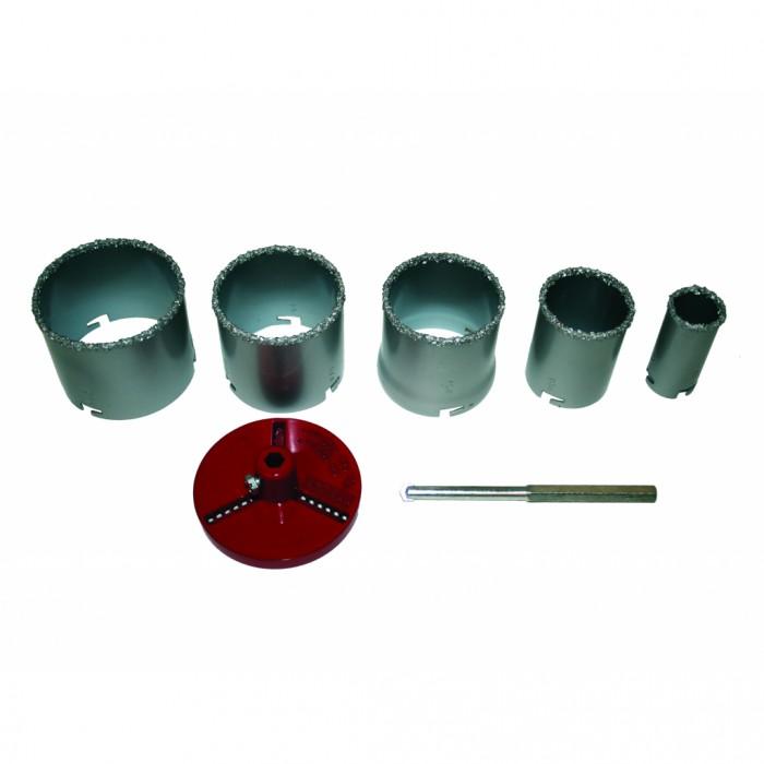 Боркорони за керамични плочки ø33-83mm 7 части Raider 157714