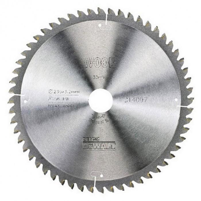 Диск метален HM за рязане на ламинат 235х30х3.2 мм, 56 z, DeWALT DT4097