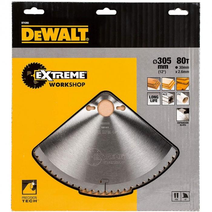 Диск метален HM за рязане на дърво 305x30x2.6 мм, 32 z, DeWALT Extreme