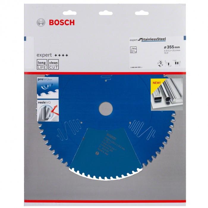 Диск метален HM за рязане за неръждаема стомана 355x25.4x2.5 мм, 70 z, Bosch Expert for Stainless Steel