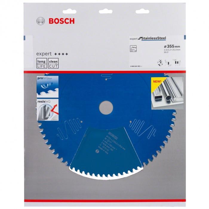 Диск метален HM за рязане за неръждаема стомана 355x25.4x2.5 мм, 90 z, Bosch Expert for Stainless Steel