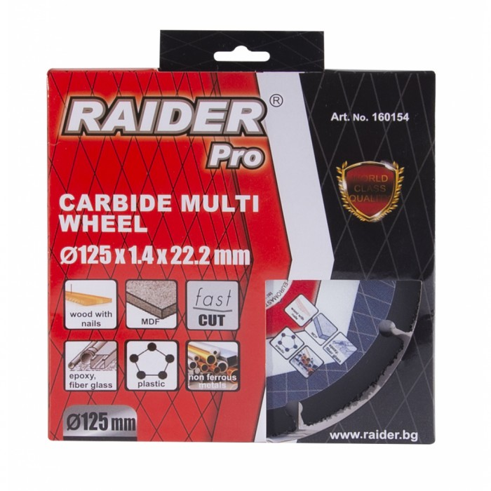 Диск за ъглошлайф Carbide Multi Wheel 125x22.2mm Raider 160154