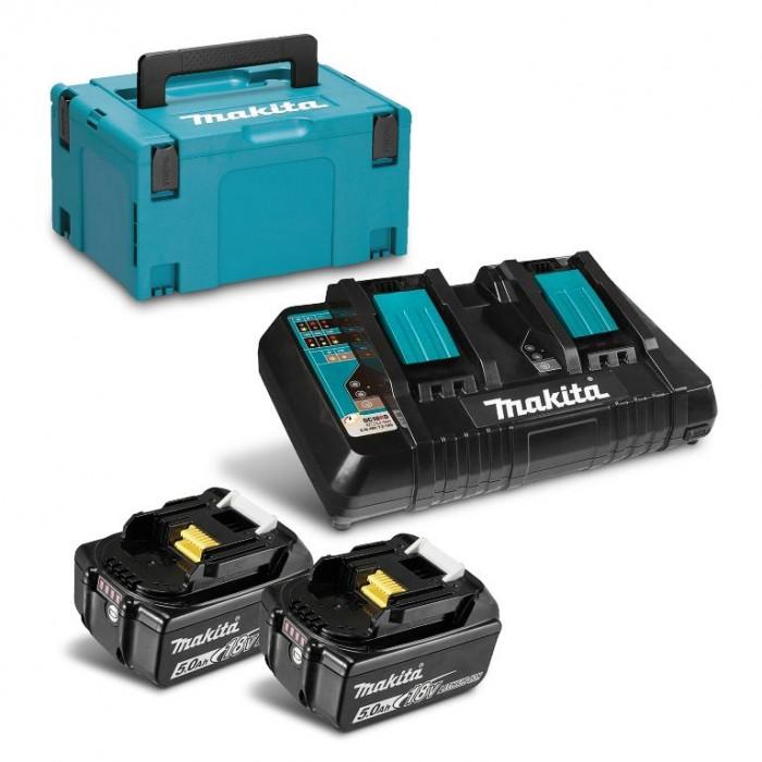 Батерия Li-Ion комплект за електроинструменти със зарядно 5 Ah, 18 V Makita 197629-2