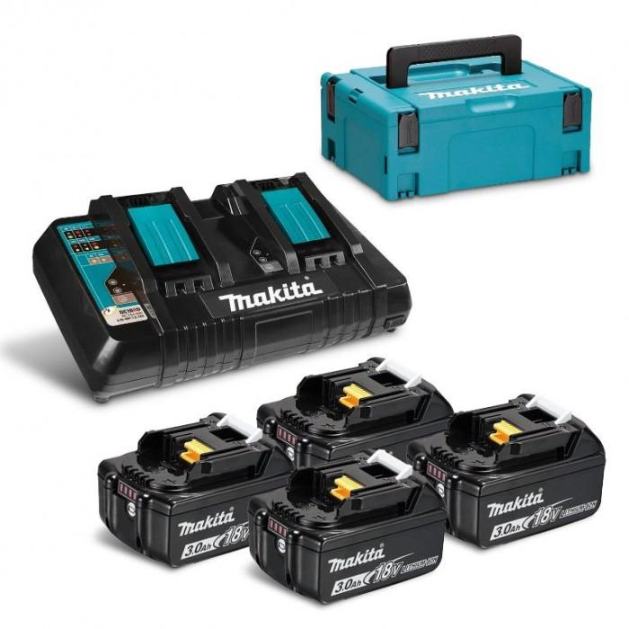 Батерия Li-Ion комплект за електроинструменти със зарядно 6 Ah, 18 V Makita BL1830