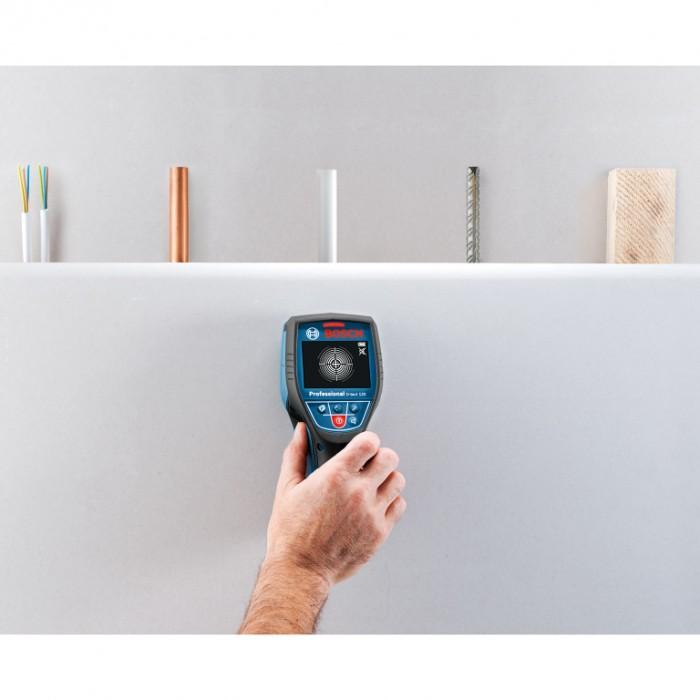 Детектор за метал, дърво, пластмаса и кабели 0-120 мм, Bosch D-tect 120 Professional