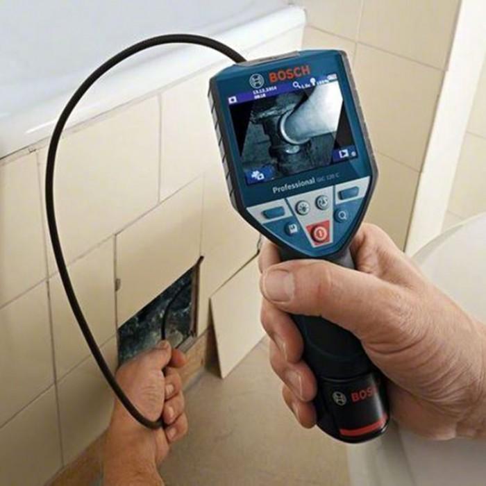 Камера за тръби и канали мобилна 10.8 V, 1.5 Ah, ф 8.5 мм, 1.2 м, Bosch GIC 120 C