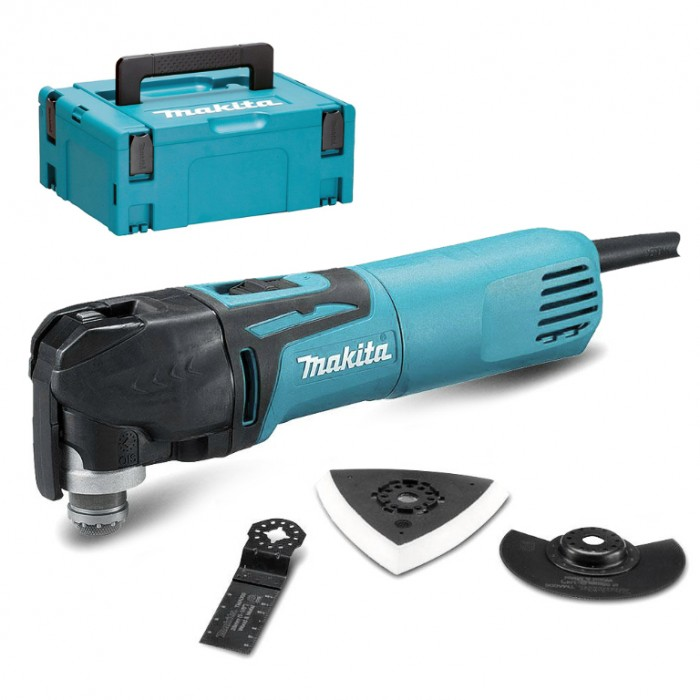 Инструмент многофункционален осцилатор електрически 320 W, 6000-20 000 вибр./мин, Makita TM3010CX6J