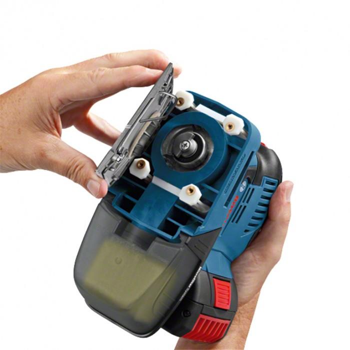 Виброшлайф акумулаторен 18 V, 5 Ah, 115x140 мм, 11 000-22 000 хода/мин, Bosch GSS 18V-10
