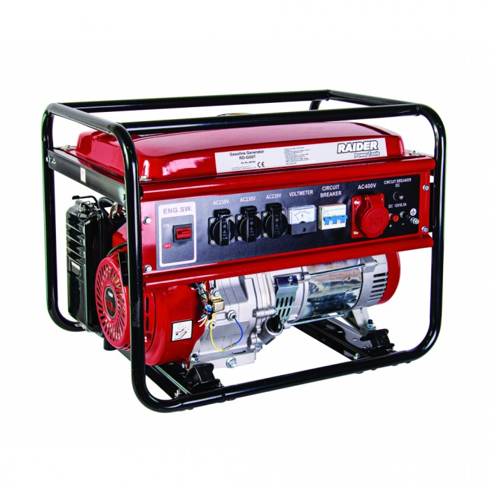 Генератор за ток бензинов 5kW 230V и 380V Raider RD-GG07