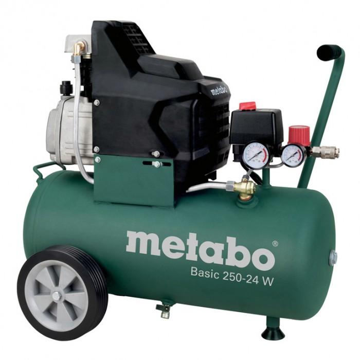 Компресор с електродвигател 8 bar, 2 к.с., 24 л, 200 л/мин, Metabo BASIC 250-24W