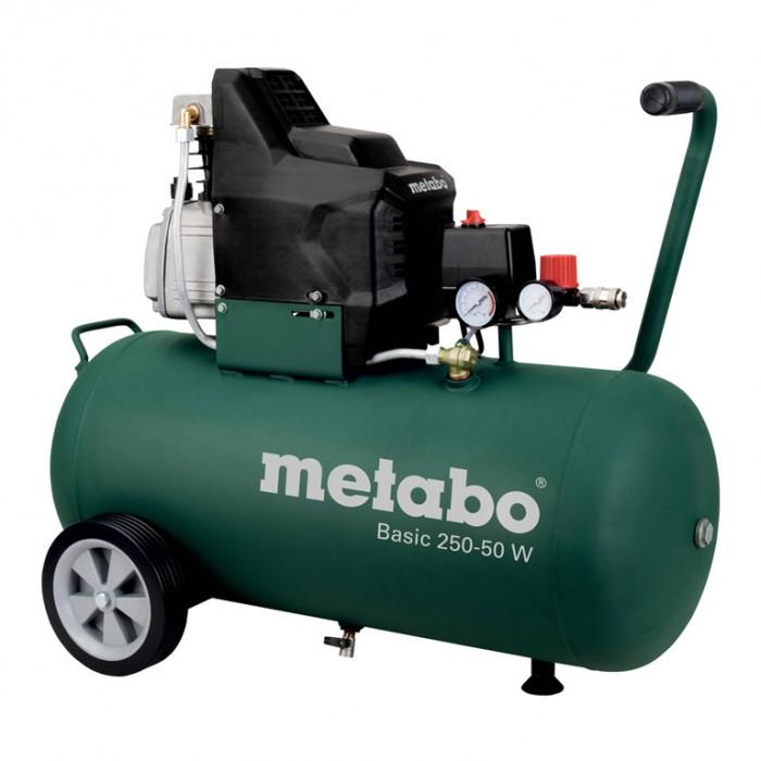 Компресор с електродвигател 8 bar, 2 к.с., 50 л, 200 л/мин, Metabo SB Basic