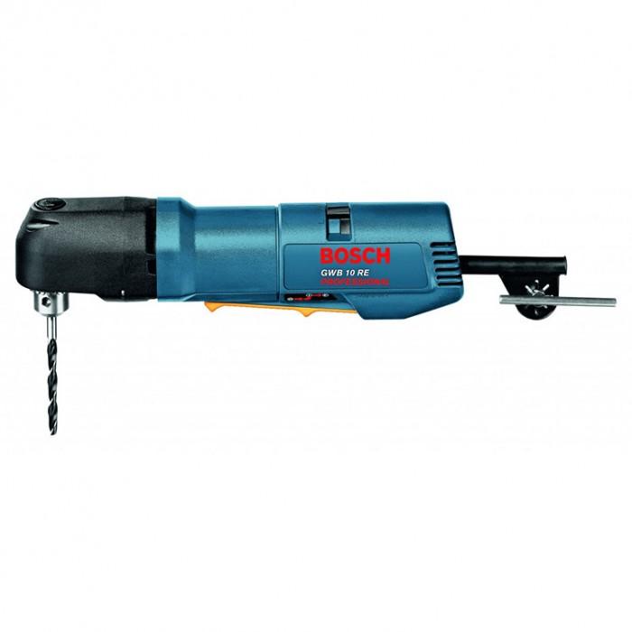 Бормашина електрическа ъглова 400 W, 5.5 Nm, 1-10 мм, Bosch GWB 10 RE
