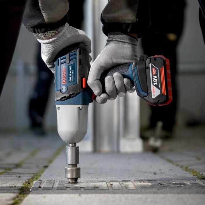"""Гайковерт акумулаторен ударен 18 V, 650 Nm, 1/2"""", Bosch GDS 18 V-LI HT"""