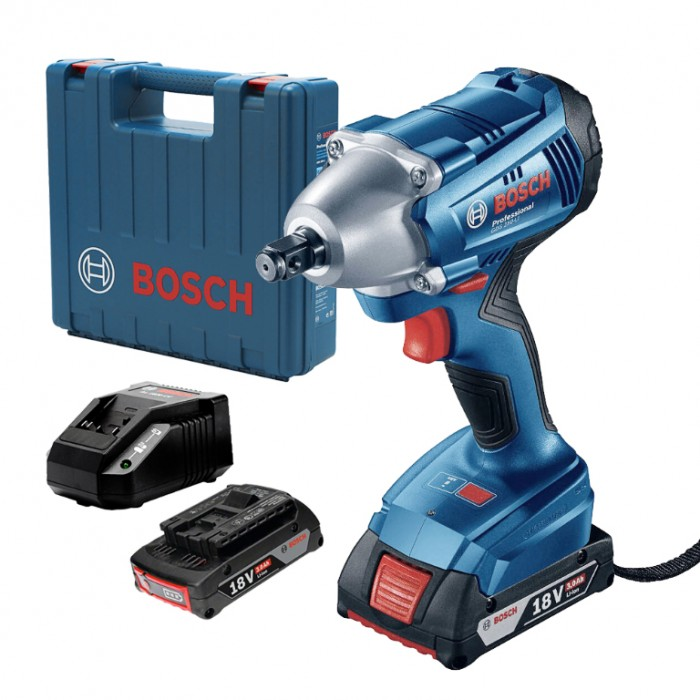 """Гайковерт акумулаторен ударен 18 V, 3 Ah, 250 Nm, 1/2"""", Bosch GDS 250 Li"""