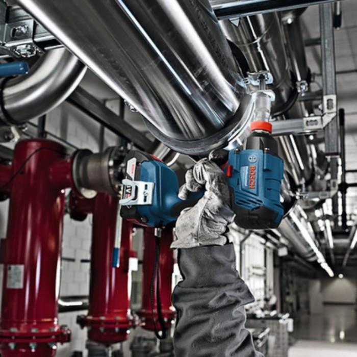 """Гайковерт акумулаторен ударен 18 V, 3 Ah, 180 Nm, 1/4"""", Bosch GDX 180-LI"""