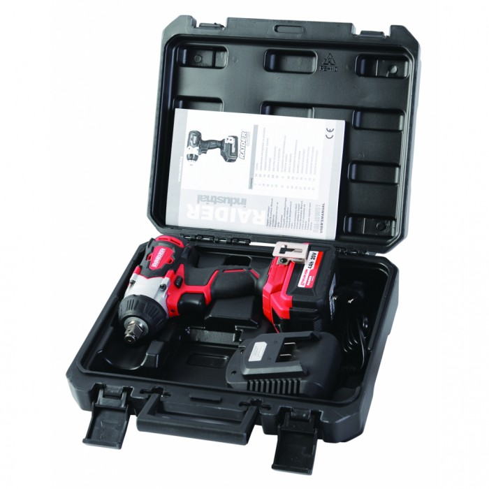 Гайковерт акумулаторен ударен 20V 320Nm безчетков в куфар Raider RDI-IBW01