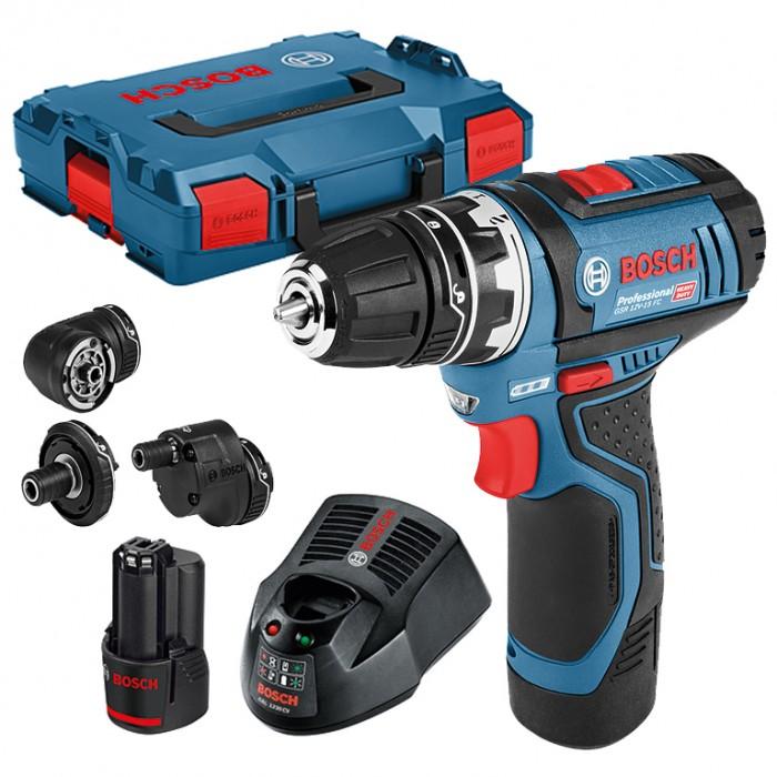 Винтоверт акумулаторен 12 V, 2 Ah, 30 Nm, 1-10 мм, Bosch GSR 12V-15 FC