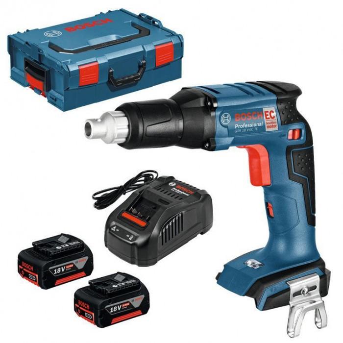 Винтоверт акумулаторен безчетков 18 V, 2 Ah, 0-4200 об./мин, 25 Nm, Bosch GSR 18 V-EC TE
