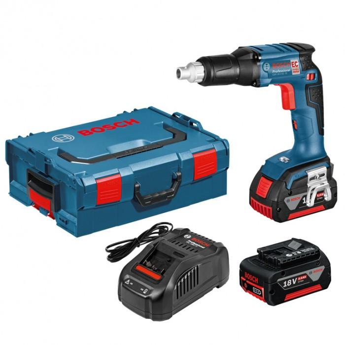 Винтоверт акумулаторен безчетков 18 V, 5 Ah, 0-4200 об./мин, 25 Nm, Bosch GSR 18 V-EC TE