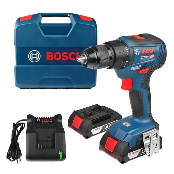 Винтоверт акумулаторен безчетков 18 V, 2 Ah, 50 Nm, 1.5-13 мм, Bosch GSR 18V-50 Professional
